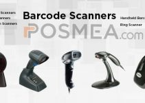 barcode scanners displayed of different brands